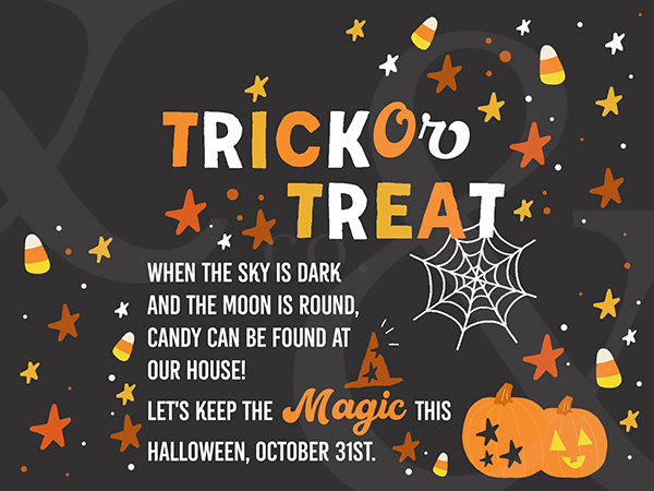YARD SIGN!! Trick Or Treat  // Collaboration with A MagicalMess ♡