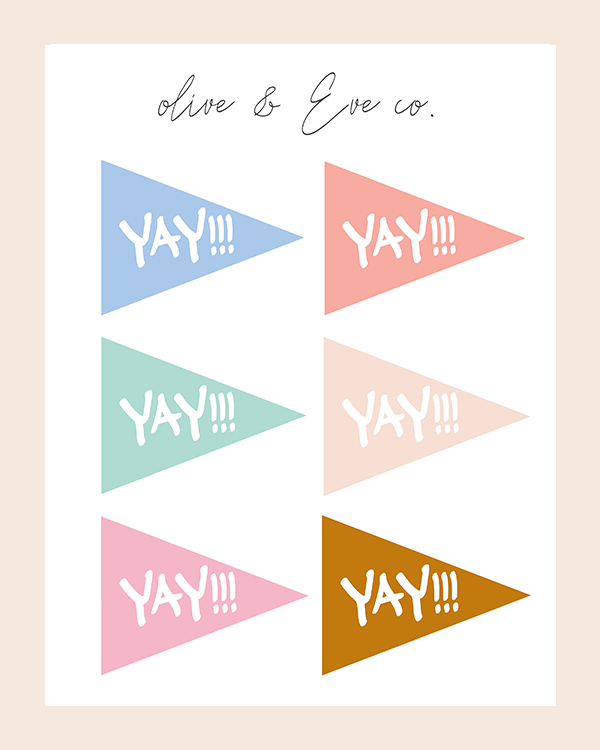 ♡ YAY!!! Celebration Flags ♡