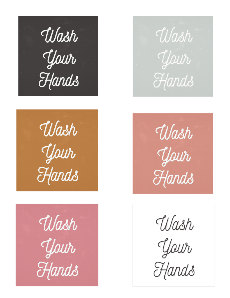 ♡ Wash Your Hands ♡