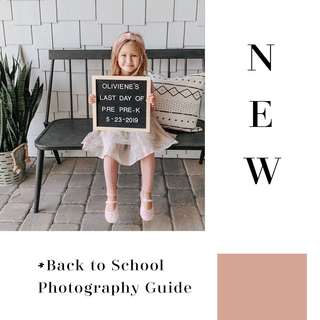 Back to School Photography Guide // Digital Download