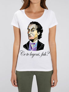 "Tricou femei medium fit ""Ce te legeni, fah?"""