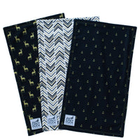Black & Gold Burp Cloth Set - Grey Duck & Co.
