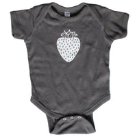 Charcoal Strawberry Infant One-Piece - Grey Duck & Co.