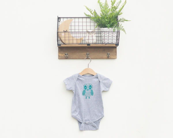 Grey Owl Infant Bodysuit - Grey Duck & Co.