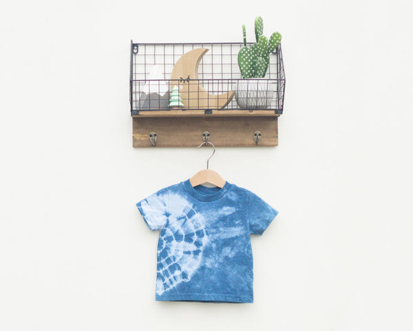 Indigo Dyed Toddler T-Shirt - Side Circle - Grey Duck & Co.
