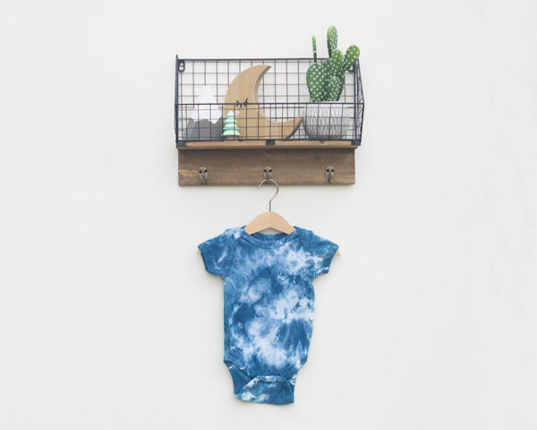 Indigo Dyed Infant Bodysuit - Scrunch - Grey Duck & Co.