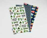 Camper Trailer & Station Wagon Burp Cloth Set - Grey Duck & Co.