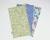 Green, Periwinkle & Floral Burp Cloth Set - Grey Duck & Co.