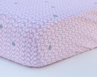 Pink & Grey Sheep Infant Flannel Crib Sheet - Grey Duck & Co.