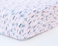 Pink & Grey Forest Infant Flannel Crib Sheet - Grey Duck & Co.