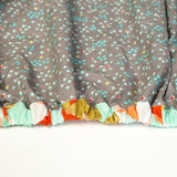 Grey Fitted Crib Sheet with Tiny Florals - Grey Duck & Co.