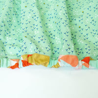 Mint Fitted Crib Sheet with Mini Florals - Grey Duck & Co.