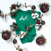 Green Trees and Cabin Infant One-Piece