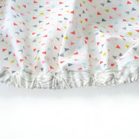 White Fitted Crib Sheet with Mini Triangles - Grey Duck & Co.