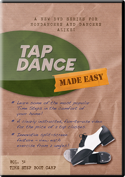 Streaming / Digital Download of Tap Dance Made Easy Vol 3: Time Step Boot Camp (instant download)