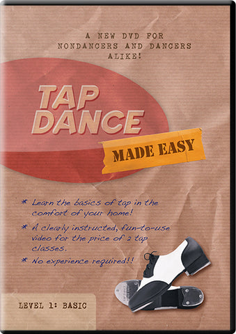Streaming / Digital Download of Tap Dance Made Easy Vol 1: Basic (instant download)