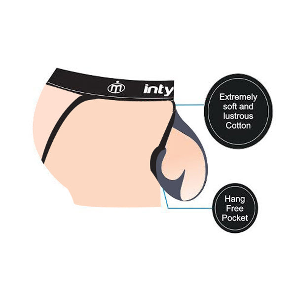 Intymen INT4300  Fill-It Jockstrap Charcoal