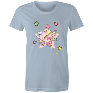 Kawaii Nail Time - Womens T-shirt