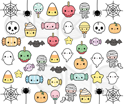 Water Decal - Kawaii Trick or Treat