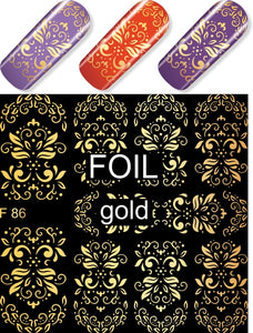 Milv Water Decal - F 086 Gold