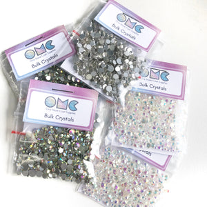 Flatback Clear Crystal - Mixed Sizes