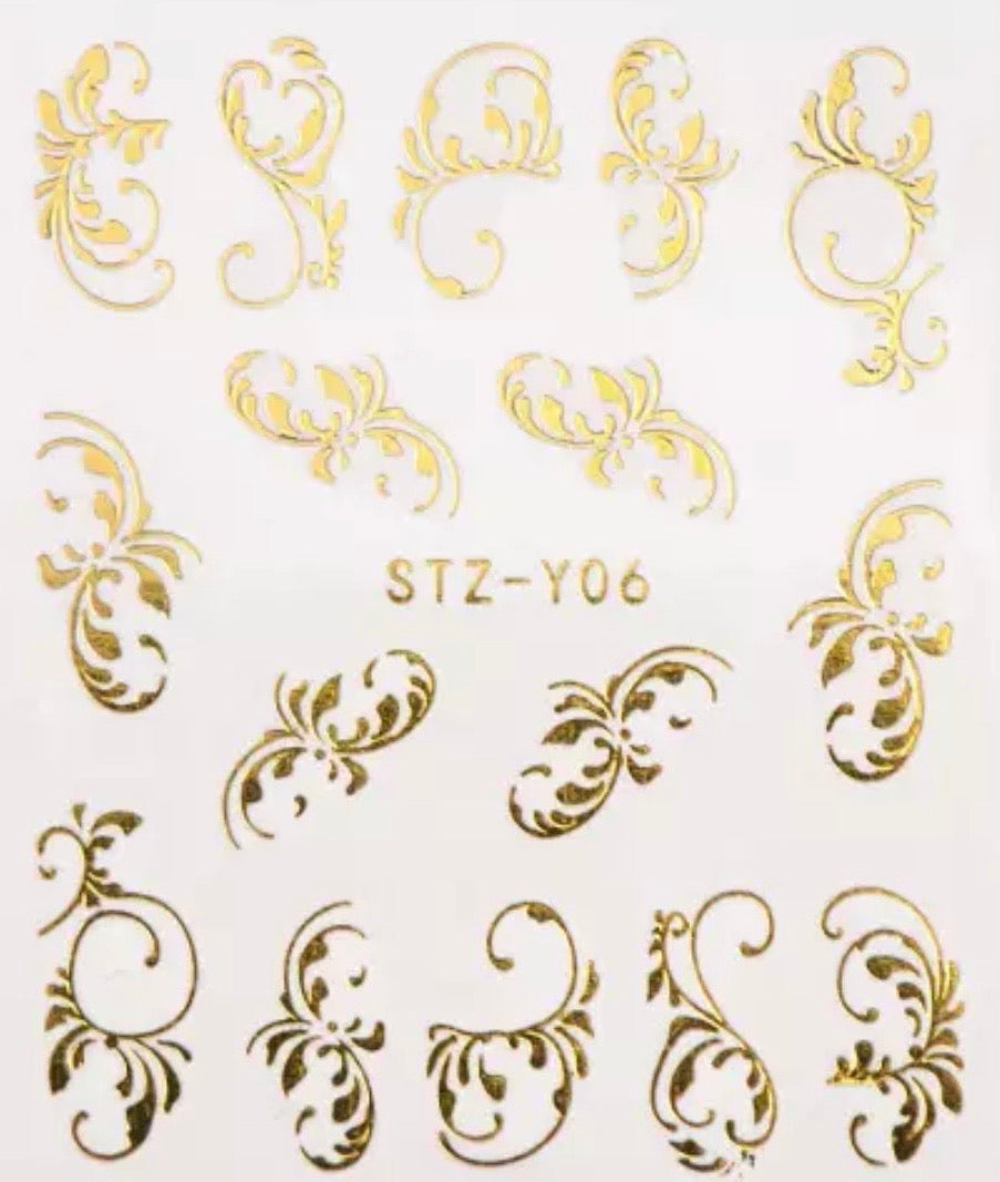 Water Decal - Gold Scrolls