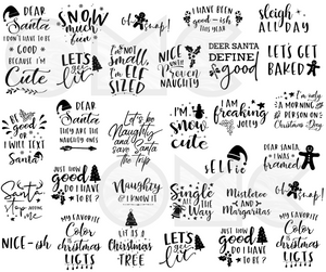 Water Decal - Christmas Text