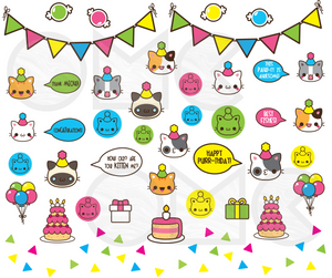 Water Decal - Birthday Cats