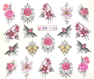 Water Decal - Pink Flowers