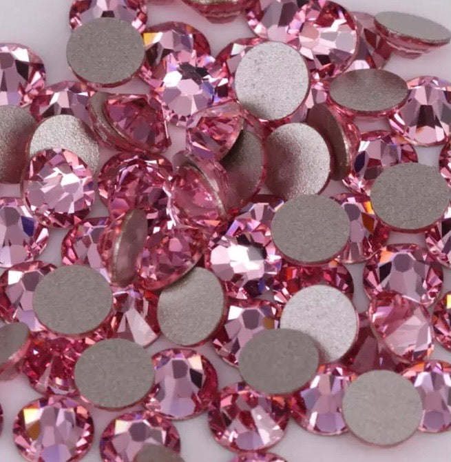 Flatback Pink Crystal - Mixed Sizes