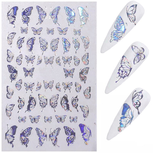 Nail Art Stickers: Holographic Butterflies