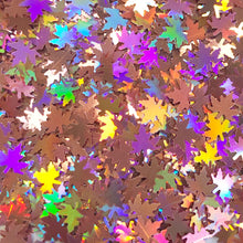 Load image into Gallery viewer, Holographic Maple Leaf Shaped Glitter
