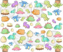 Load image into Gallery viewer, Water Decal - Kawaii Dinosaurs