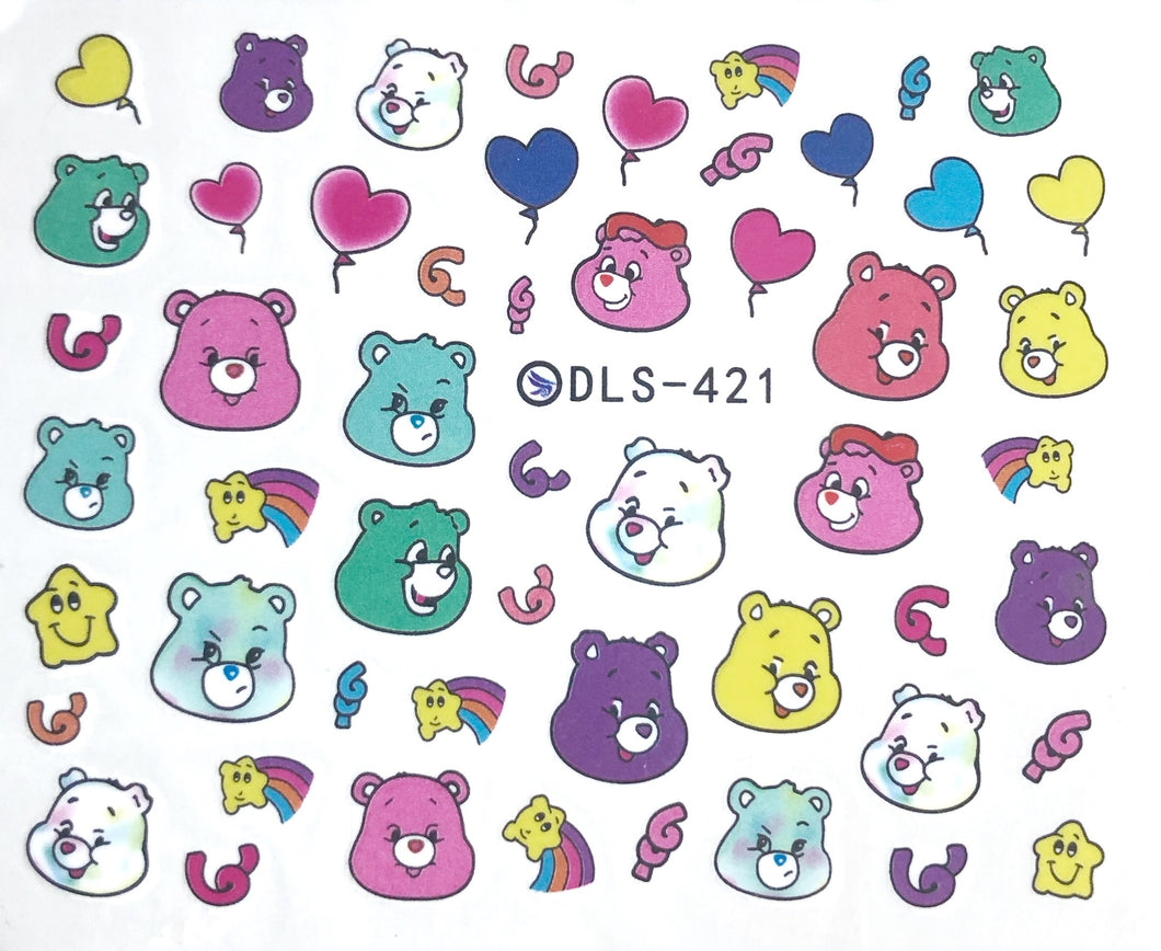 Water Decal - Care bears