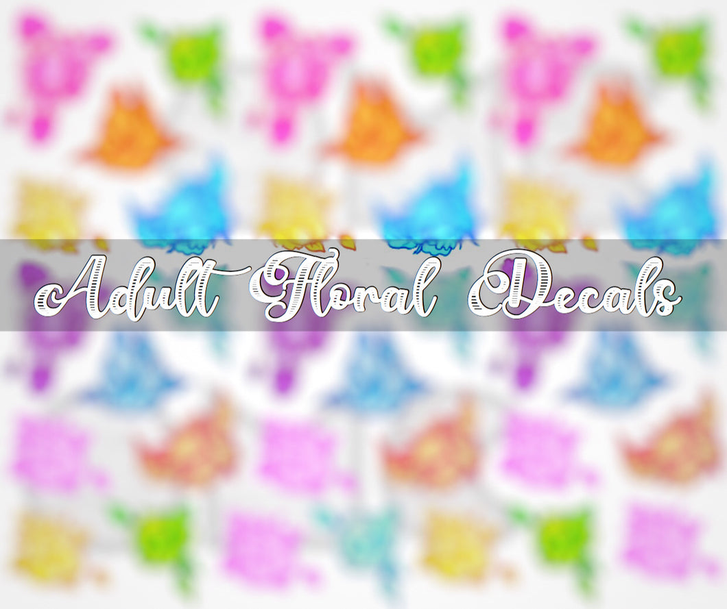 Water Decal - Adults Only Florals