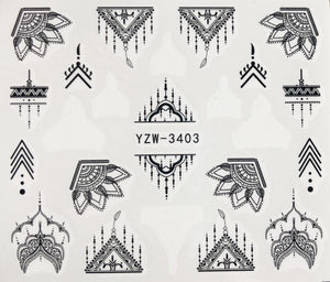 Water Decal - Black and White Deco