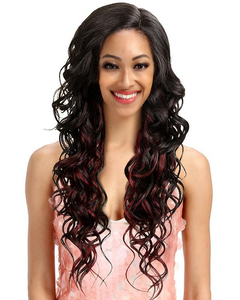 "30"" Loose Wave Lace Front Wigs Ombre Color"