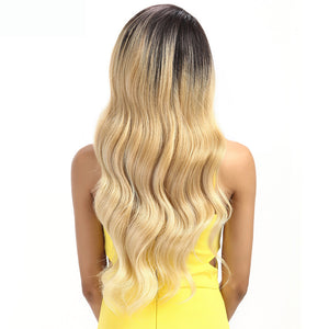 Long wavy Lace Front ombre blonde Wig 3 Colours