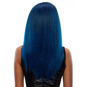 Long Straight Hair Ombre Blue wig