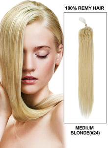 Light Blonde(#24) Micro Loop Ring Hair One Gram per Strand