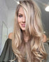 "26"" long wavy Ombre Ash Blonde Color Wigs"