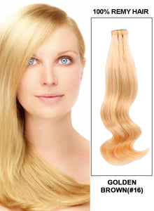 20 Pieces Tape In Hair Extension Golden Brown(#16)