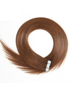 20 Pieces Tape In Hair Extension Middle Brown(#6)