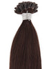 Dark Brown(#2) Nail Tip Hair Extension 50 Strand 1G/Strand