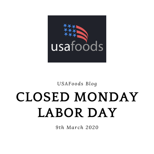 Closed Monday 9th for Labor Day