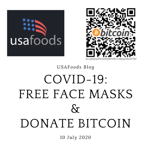 Donate bitcoin to help us provide masks for all!