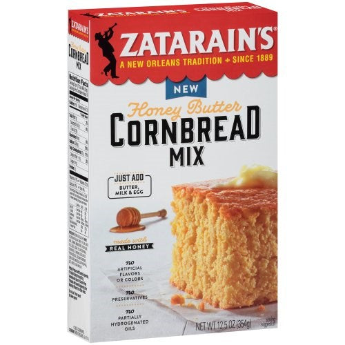 Zatarain's Honey Butter Cornbread Mix 12.5oz