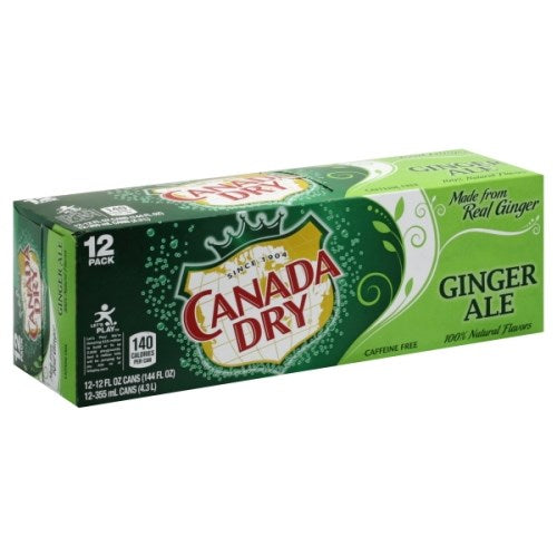 Canada Dry Ginger Ale 12 Pack / 12oz cans