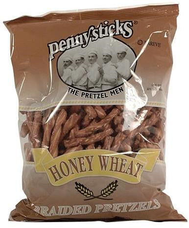 Pennysticks Honey Wheat Braided Pretzels