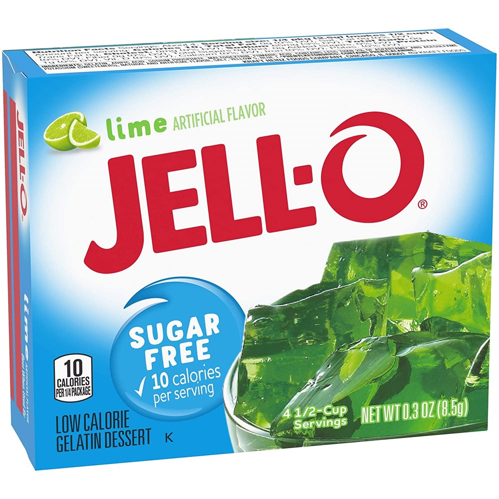 Jell-O Sugar Free Lime Gelatin Mix